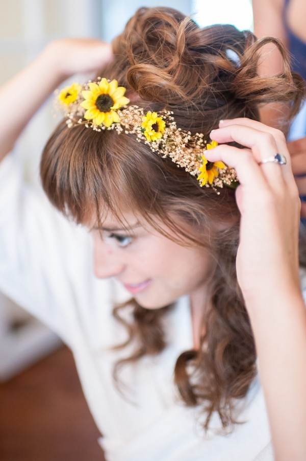 Sunflower Flower Crown by Smile Peace Love Creative
