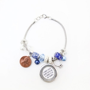 Something old, new, borrowed, blue bracelet on The Budget Savvy Bride