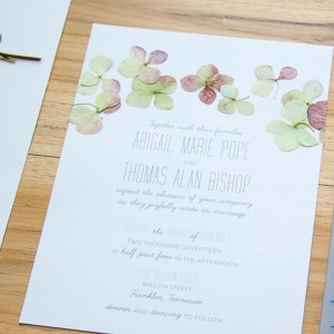 pressed flower wedding invitations on The Budget Savvy Bride