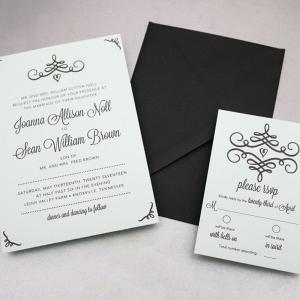 Swirl Invitations on The Budget Savvy Bride