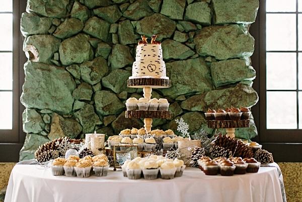 Winter Wonderland Wedding Dessert Table | James Stokes Photography