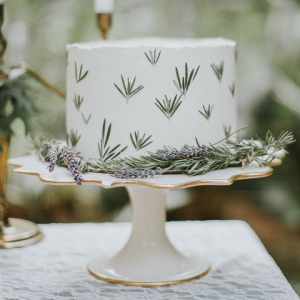Magical Woodland Wedding Cake