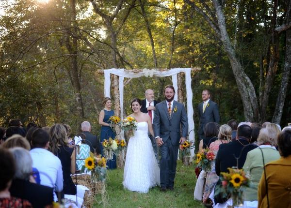 Couple Exiting the Wedding