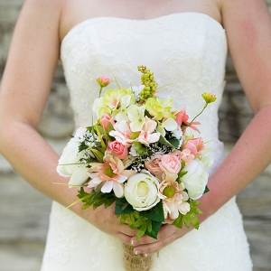 rustic wedding bouquet on The Budget Savvy Bride