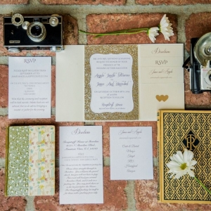 Glitter Wedding Invitations | Shoot Any Angle Wedding Photography