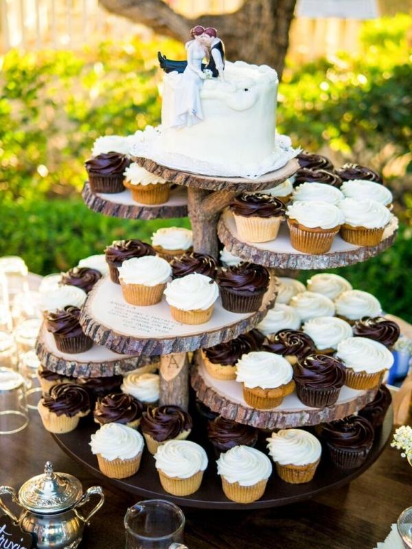 Rustic Wedding Cake Stand | Shoot Any Angle Wedding Photography