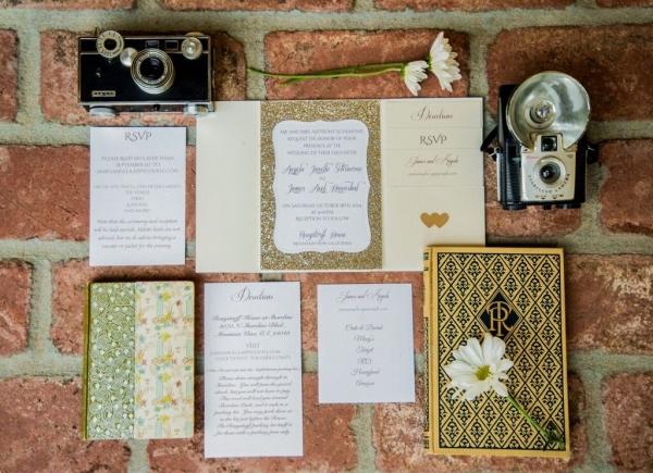Glitter Wedding Invitations | Shoot Any Angle Wedding Photography