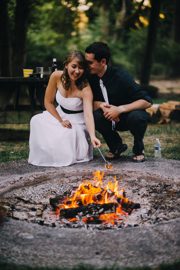 Roasting Marshmallows and Making S'mores at Your Wedding