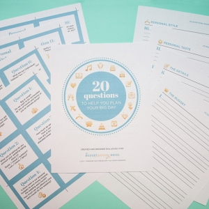 20 questions of wedding planning from The Budget Savvy Bride