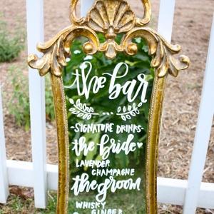 Vintage Mirror Bar Sign