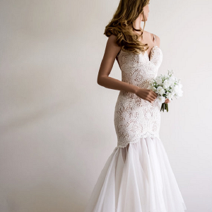 Backless Mermaid Wedding Dress