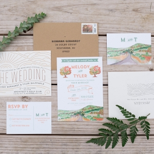 Farm Watercolor Invitation Suite