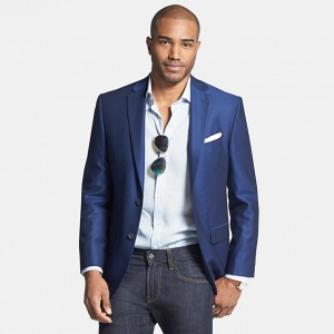 'Connor' Classic Fit Wool Blazer by David Donahue