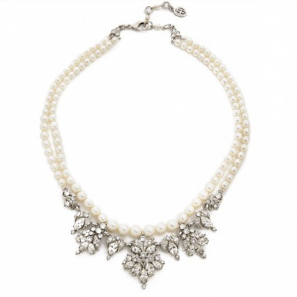 Double Pearl Strand with Swarovski Crystals