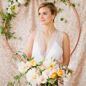 Mint Meets Rose Gold in NYC with Minted - Gorgeous bride - Betsi Ewing Photopraphy