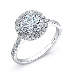 Pavé Diamond Leaf Engagement Ring Setting