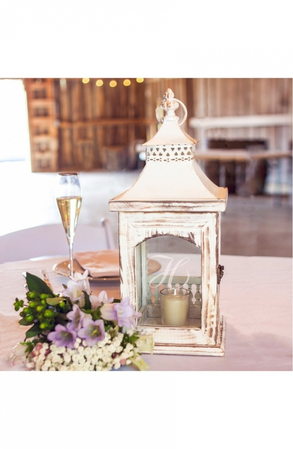 Personalized Rustic Centerpiece Lantern