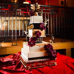 Glamorous and elegant Halloween wedding cake