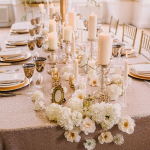 Champagne Sequin Wedding Table Cloth