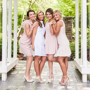 Pastel bridesmaid dresses