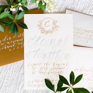 Romantic elegant calligraphy