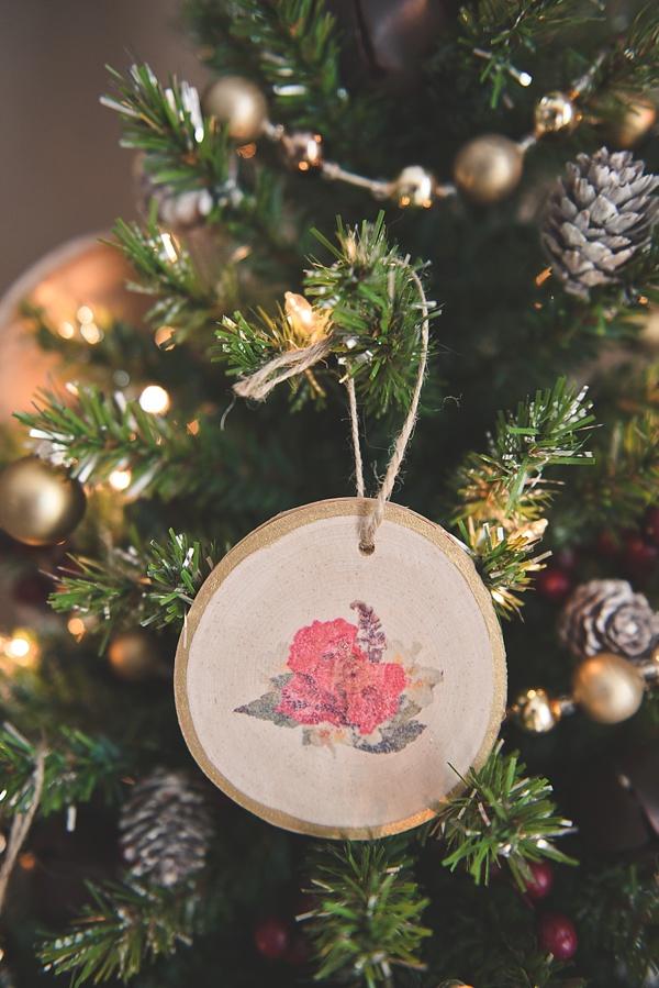 DIY image transfer ornaments