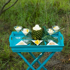 Pineapple ice cream bar