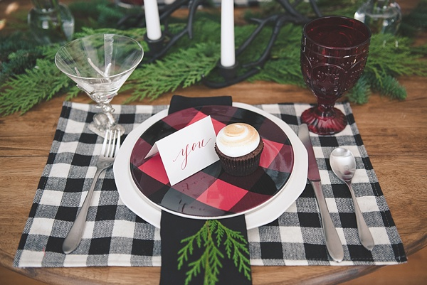 Rustic Christmas place setting