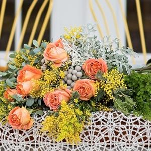 Eclectic floral arrangement