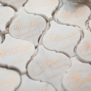 Lantern marble Wedding Place Cards
