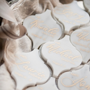 Calligraphy Marble Wedding Escort Cards