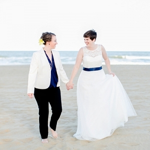 Two beach brides