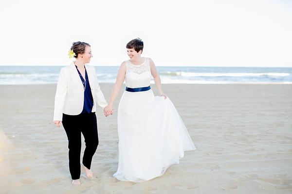 Two beach brides