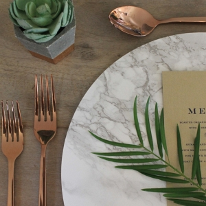 Modern Chic Marble Charger Plates