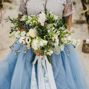 Coastal modern wedding bouquet