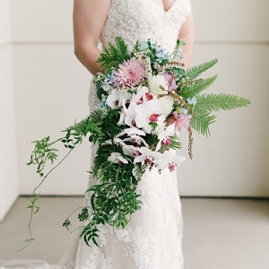 Exotic tropical wedding bouquet