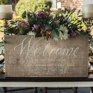 Welcome calligraphy wedding sign
