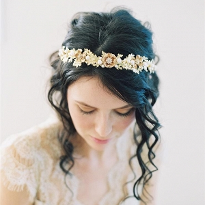 Woodland Gold Bridal Headpiece