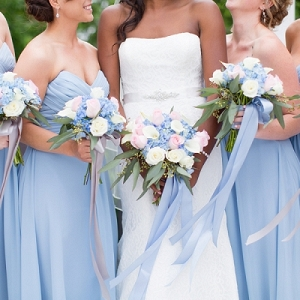 Periwinkle blue bridesmaid dresses
