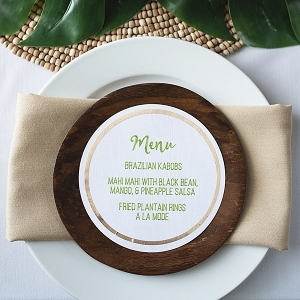 Tropical menu card