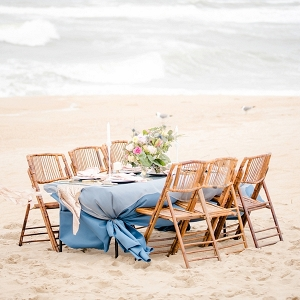Glam beach wedding table
