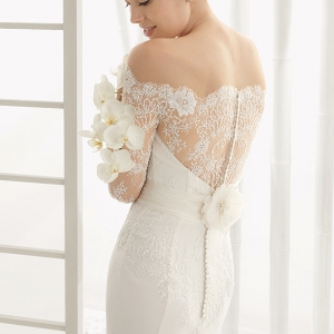 Rosa Clara Dado Back Lace Wedding Dress