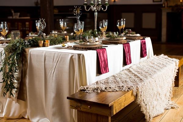 Christmas wedding rustic table