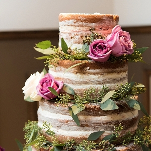 Naked cake for rustic wedding