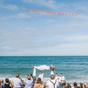 Airplane wedding message
