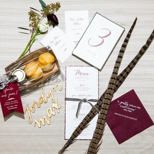 Paperzest wedding invitation and favors