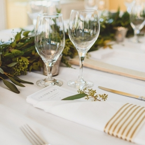 Modern rectangle reception table brunch wedding