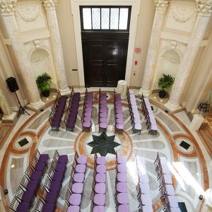 purple ombre dc ceremony wedding