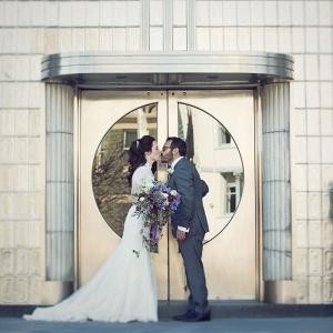 DC ombre purple wedding Carnegie Institution