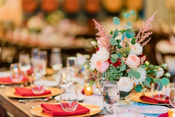 Winery wedding reception tables